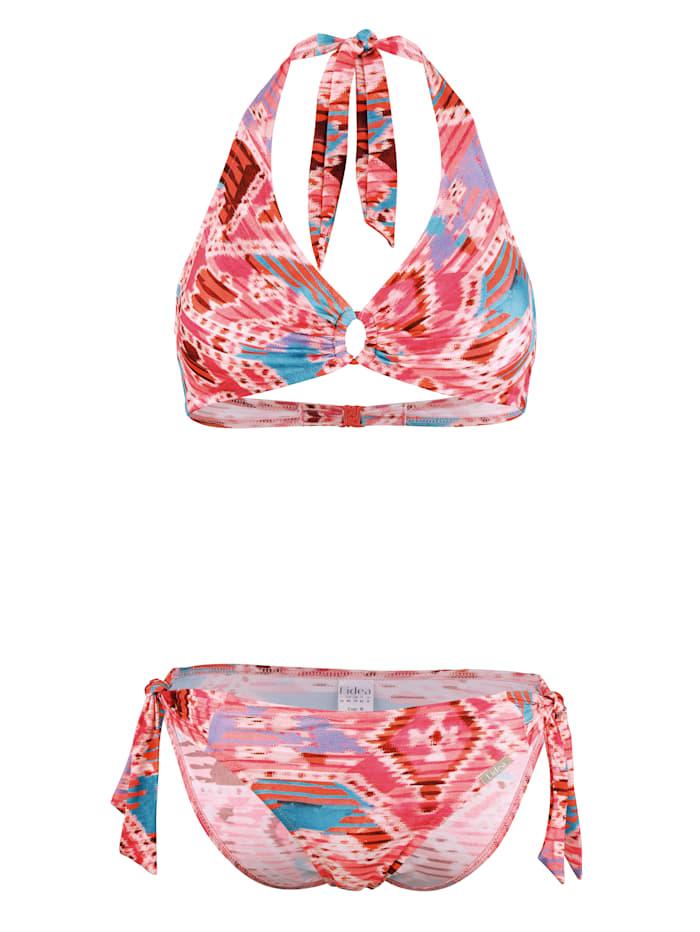 Lidea Bikini met grafisch dessin, Pink