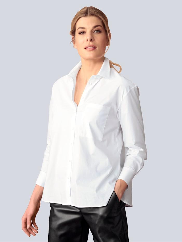 BRAX Bluse mit Brusttasche, Weiß