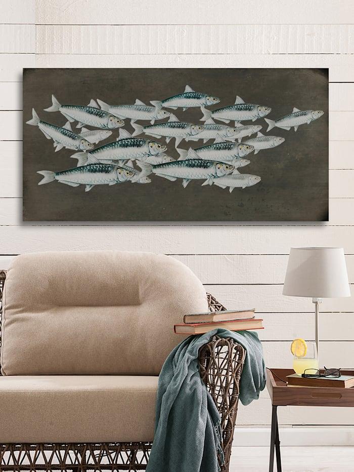 Holzbild, Fische