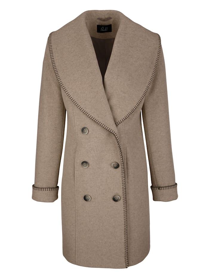 Kort kappa med ull