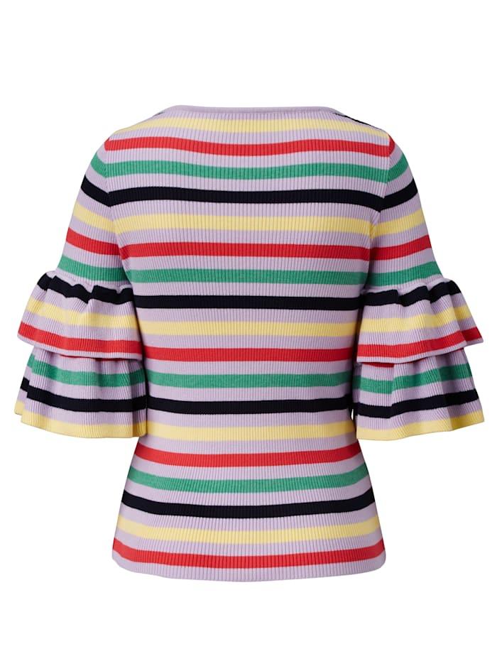 Pullover mit Multicolor-Ringel