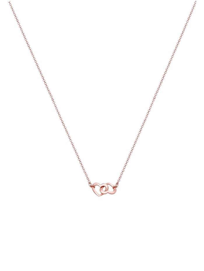 Halskette Herzen Liebe Verbunden 925 Sterling Silber