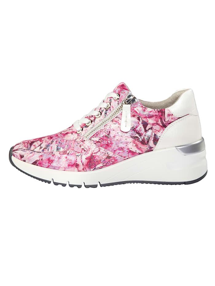 Sneakers avec laçage et glissière côté