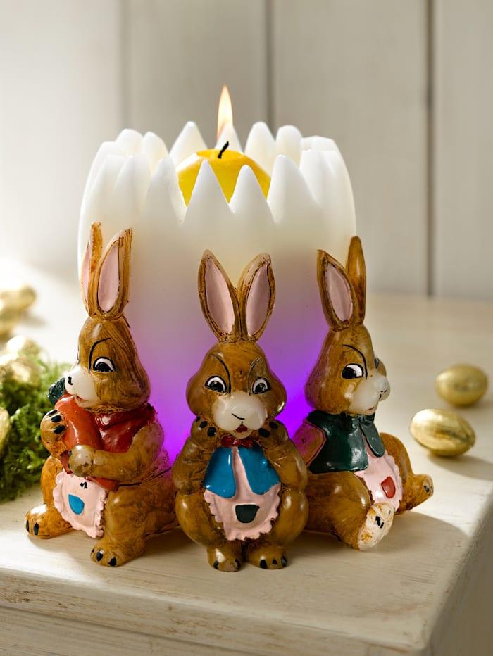 Œuf et couronne de lapins
