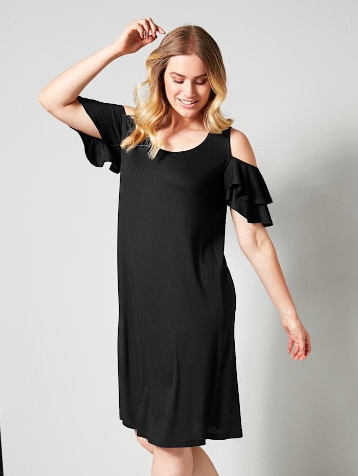 Olkapäät paljastava mekko