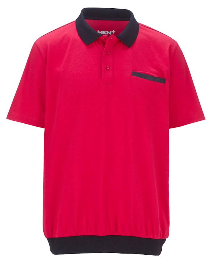 Men Plus Poloshirt Spezialschnitt, Beere