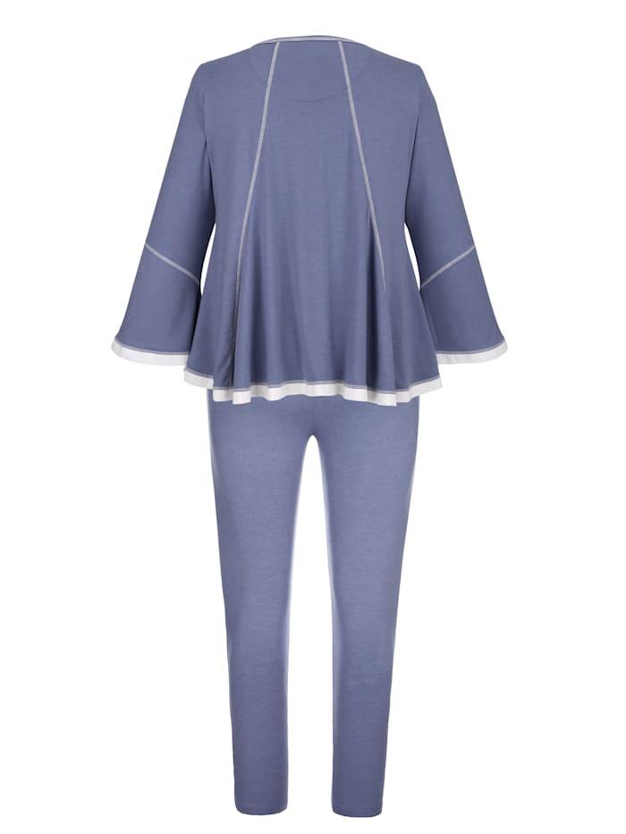 Pyjama met romantisch chiffon