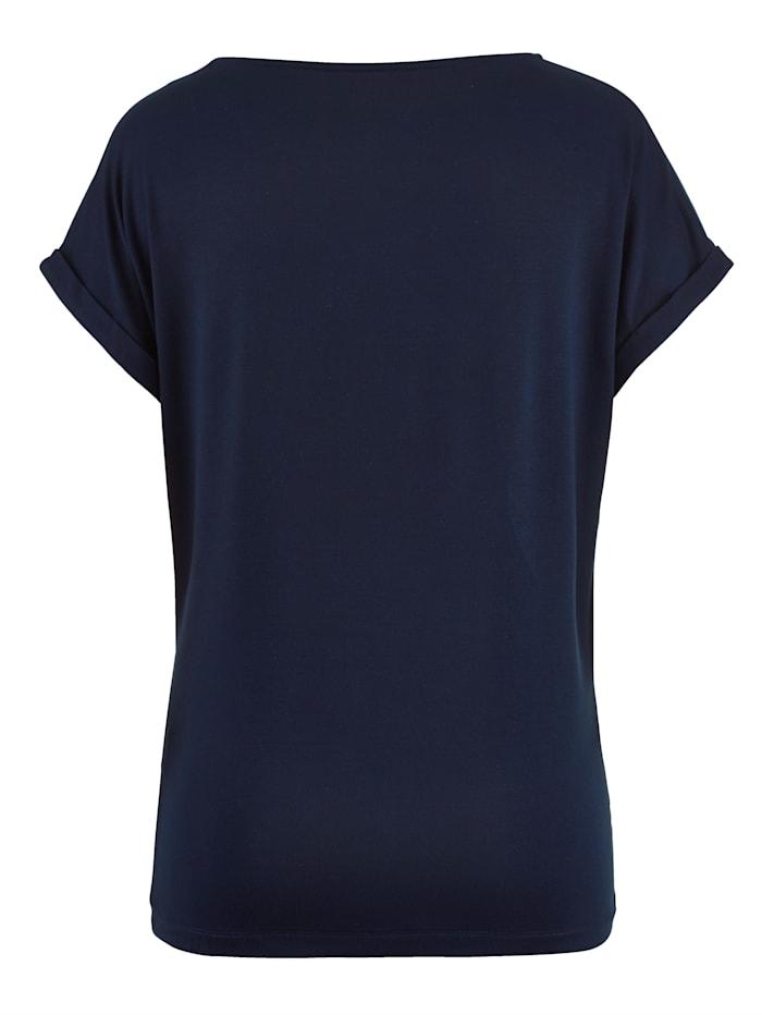 Shirt met borduursel van glansgaren