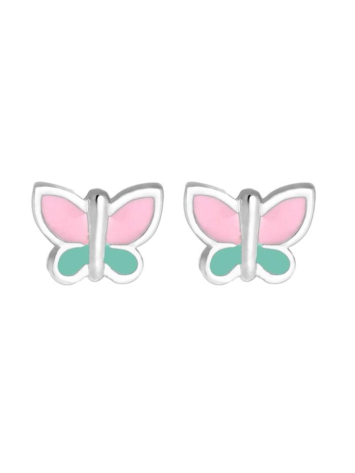 Ohrringe Kinder Schmetterling Pastel Emaille 925 Silber