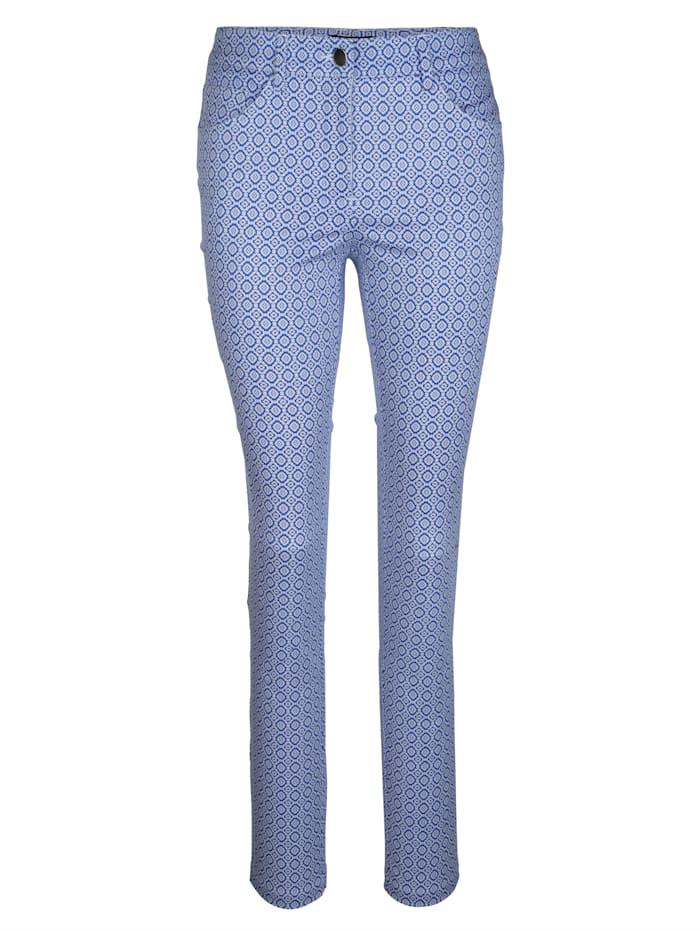 Jeans med grafisk mønster