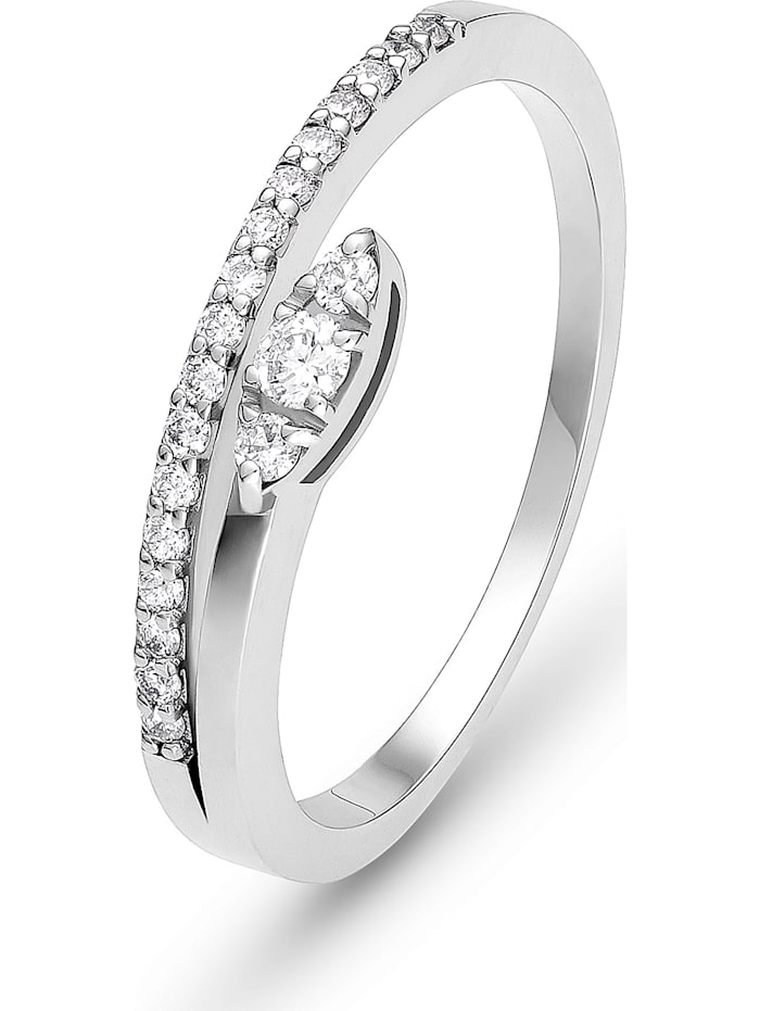CHRIST Diamonds CHRIST Damen-Damenring 21 Diamant, weißgold