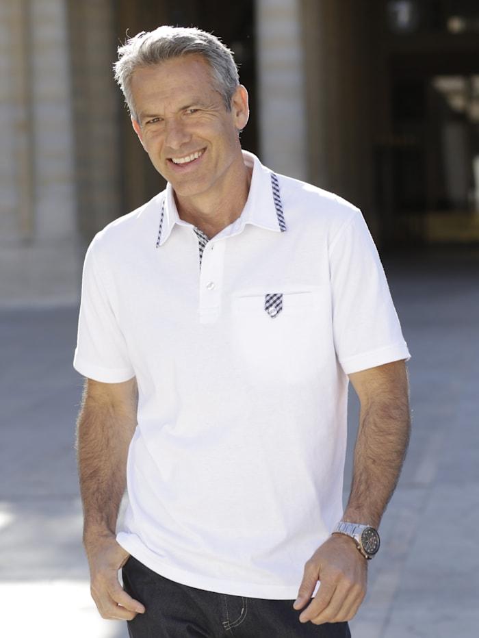 BABISTA Poloshirt mit aufwändigem Verschluss an der Brusttasche, Weiß