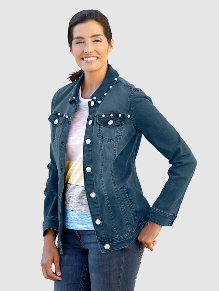 Jeansjacka med snygga detaljer