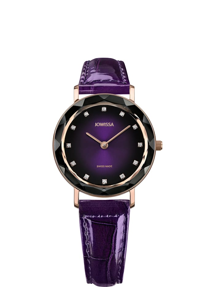 Jowissa Quarzuhr Aura Swiss Ladies Watch, violett