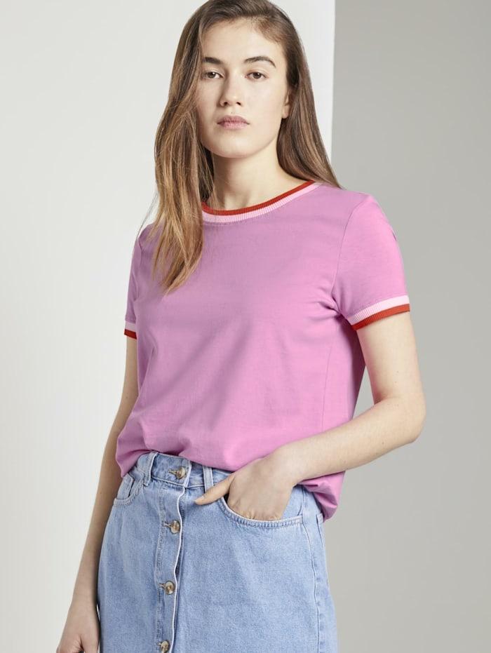 Tom Tailor Denim Jersey T-Shirt, wild orchid pink