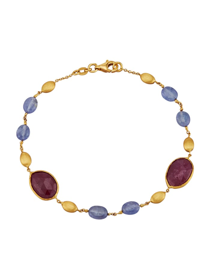 Amara Pierres colorées Bracelet à rubis et saphirs, Multicolore