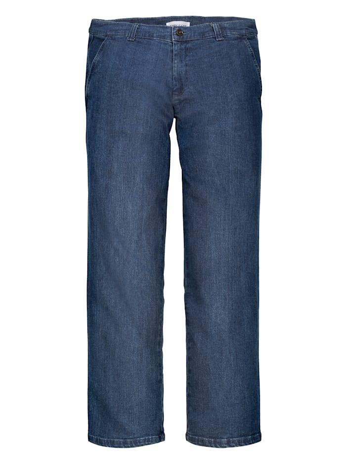 John F. Gee Jean sans pinces poches biais, Blue stone