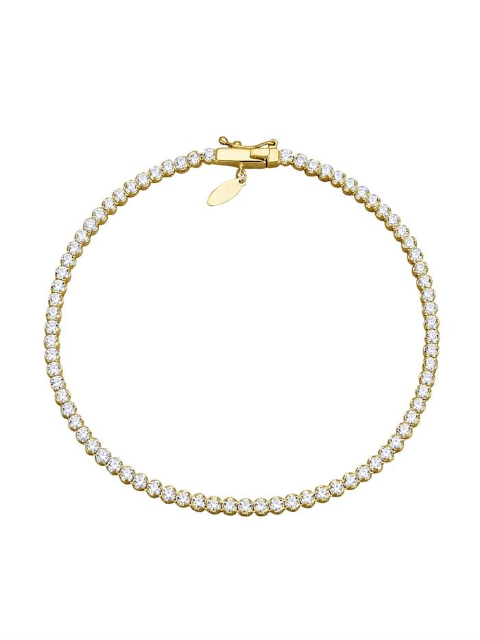 Armband mit Zirkonia, Weiß