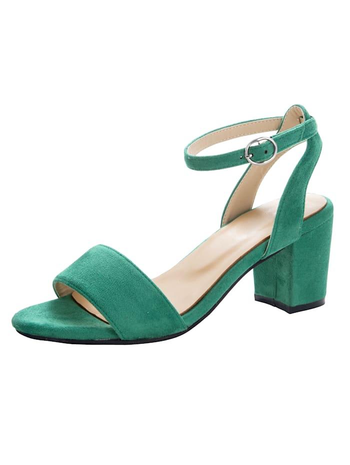 Sandaaltje in trendy look, Groen