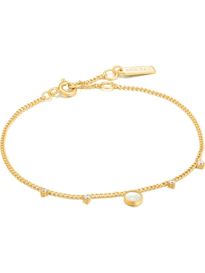 Ania Haie Ania Haie Damen-Armband 925er Silber Farbstein, gold