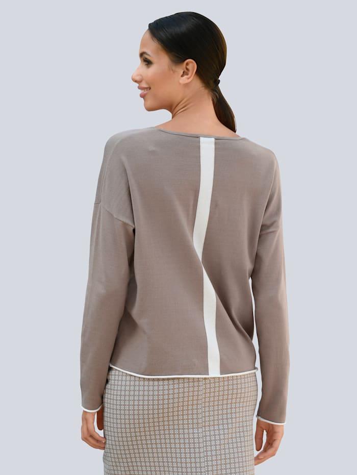 Pullover mit kontrastfarbigem Streifen im Rücken