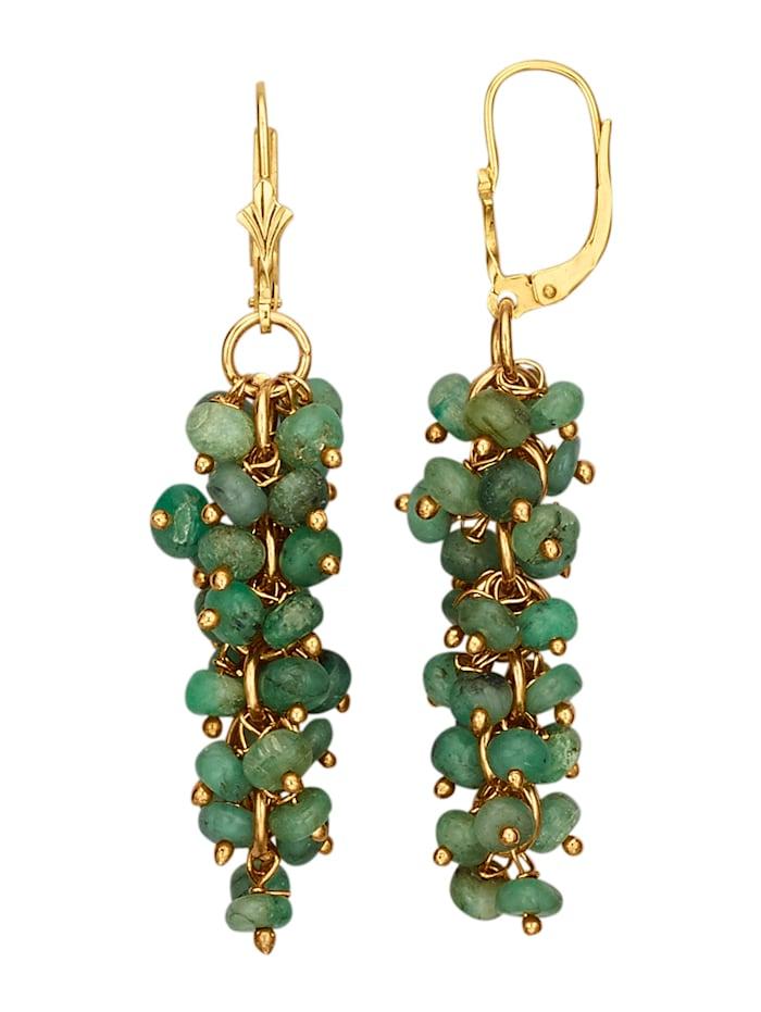 Ohrringe mit Smaragd, Grün
