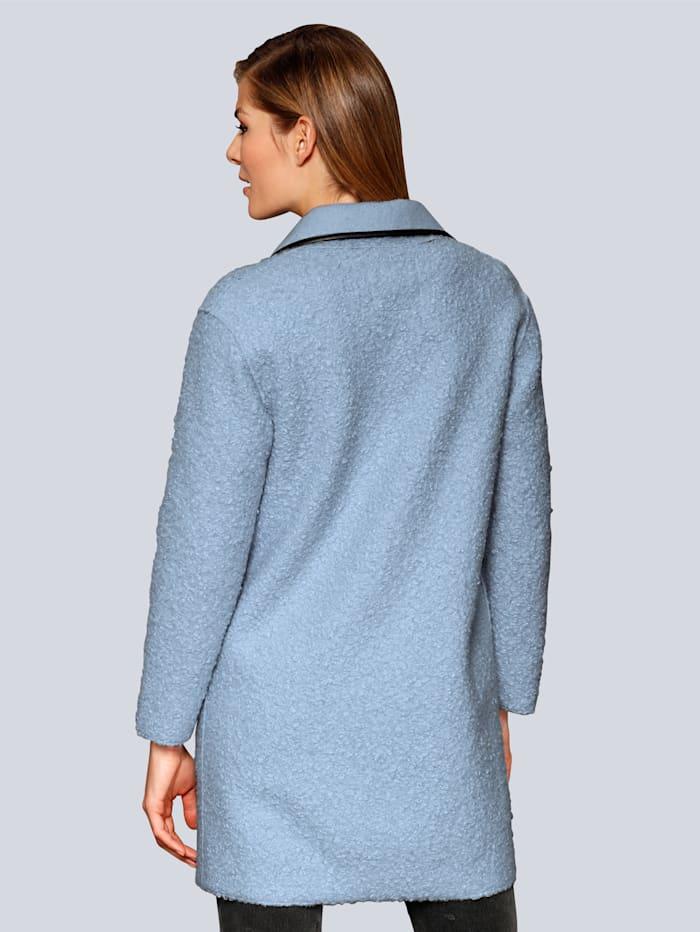 Mantel in lässiger Form mit breitem Reverskragen