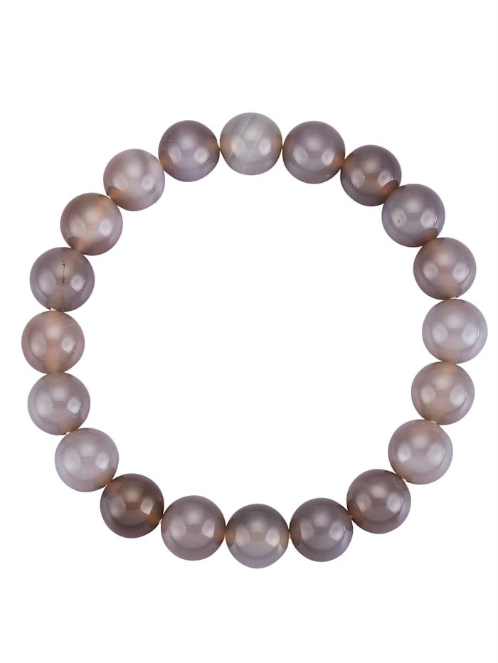 Bracelet en agates grises, Gris