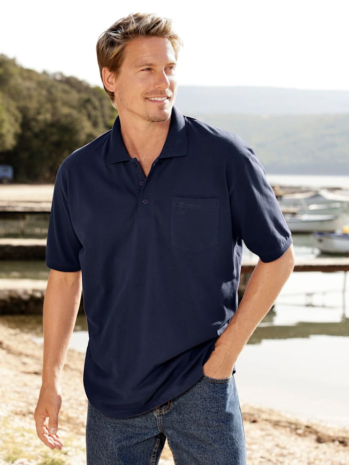 Men Plus Poloshirt, Marineblau