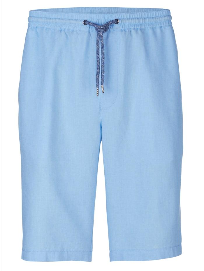 BABISTA Bermuda en lin dans une qualité haut de gamme, Bleu ciel