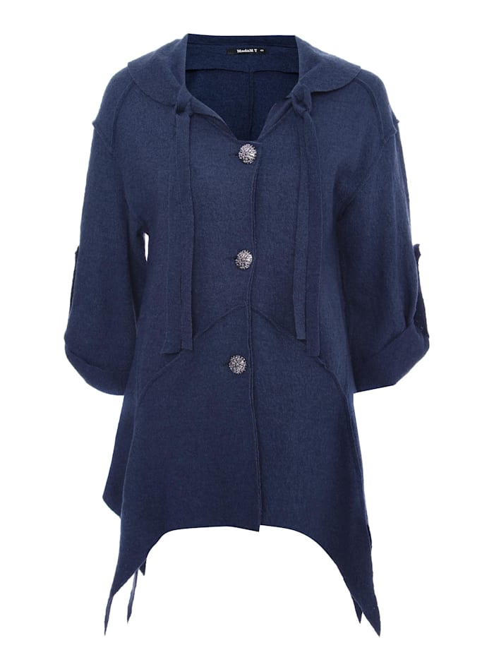 Madam-T Jacke Damenjacke Ernesta, blau
