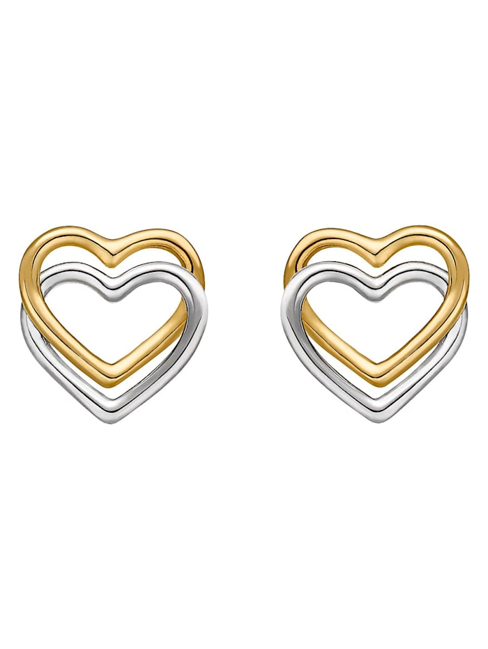 CHRIST GOLD CHRIST Gold Damen-Ohrstecker 375er Gelbgold, 375er Weißgold, gold/silber/bicolor