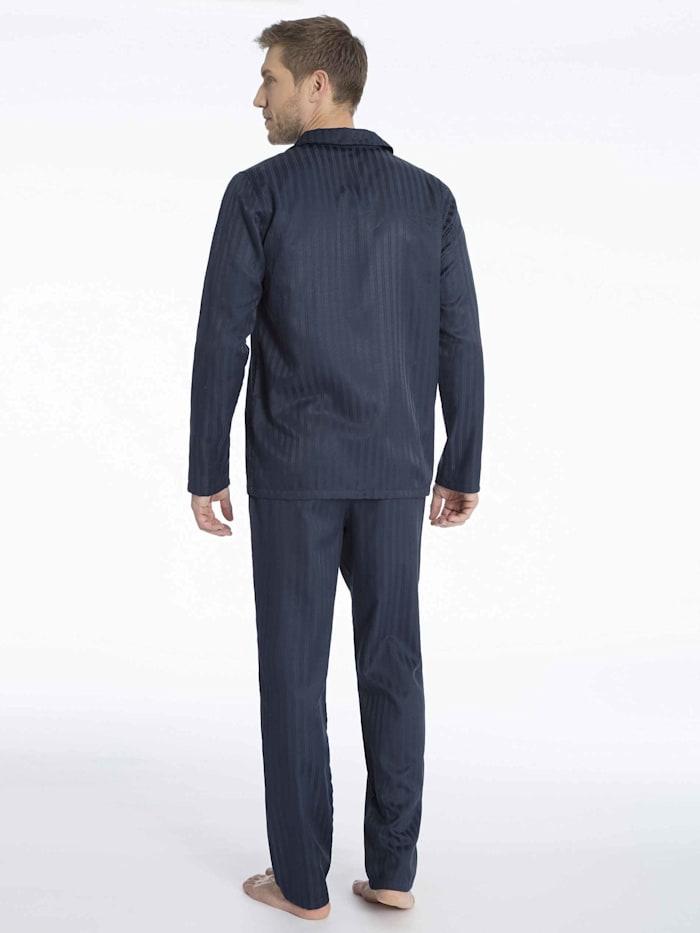 Pyjama durchgeknöpft, Websatin