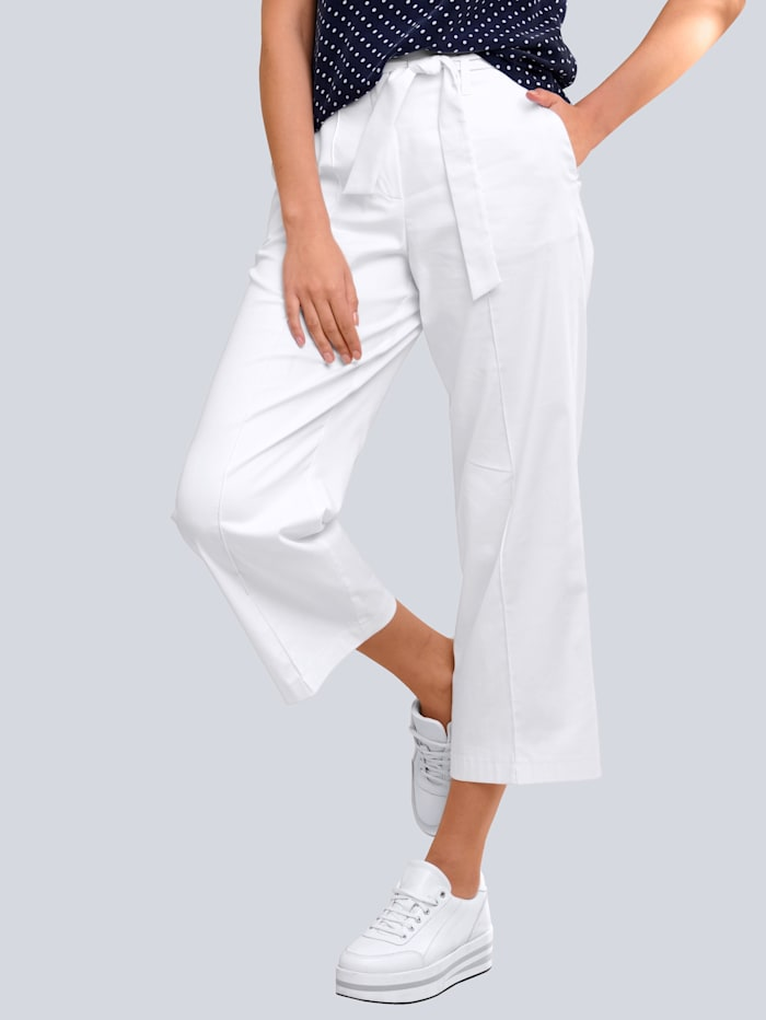 Alba Moda Culotte mit modisch weiterem Beinverlauf, Weiß