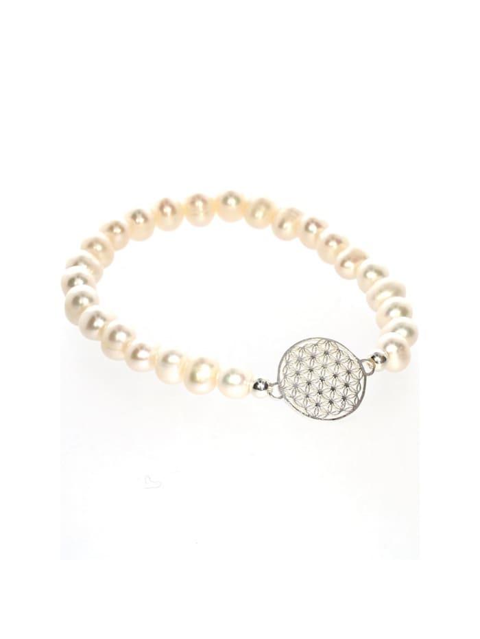 1001 Diamonds Süßwasserperle Armband 925 Silber Süßwasserperle, silber