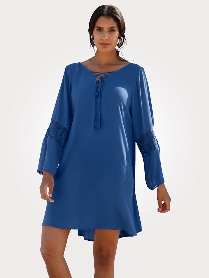 Sunflair Tunic with lace detail, Royal Blue