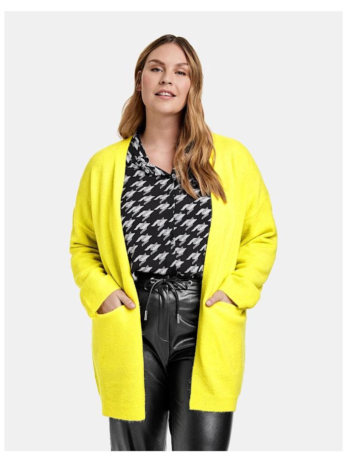 Samoon Langer Strick-Cardigan, Blazing Yellow