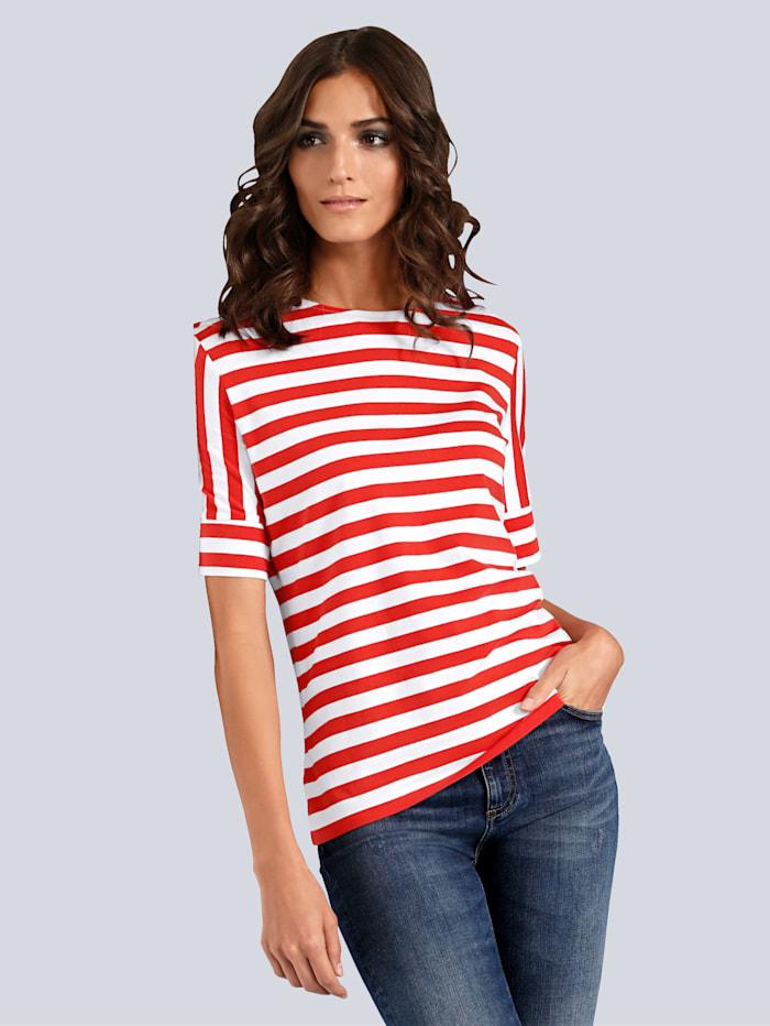 JETTE JOOP T-Shirt im Streifendessin, Rot/Weiß