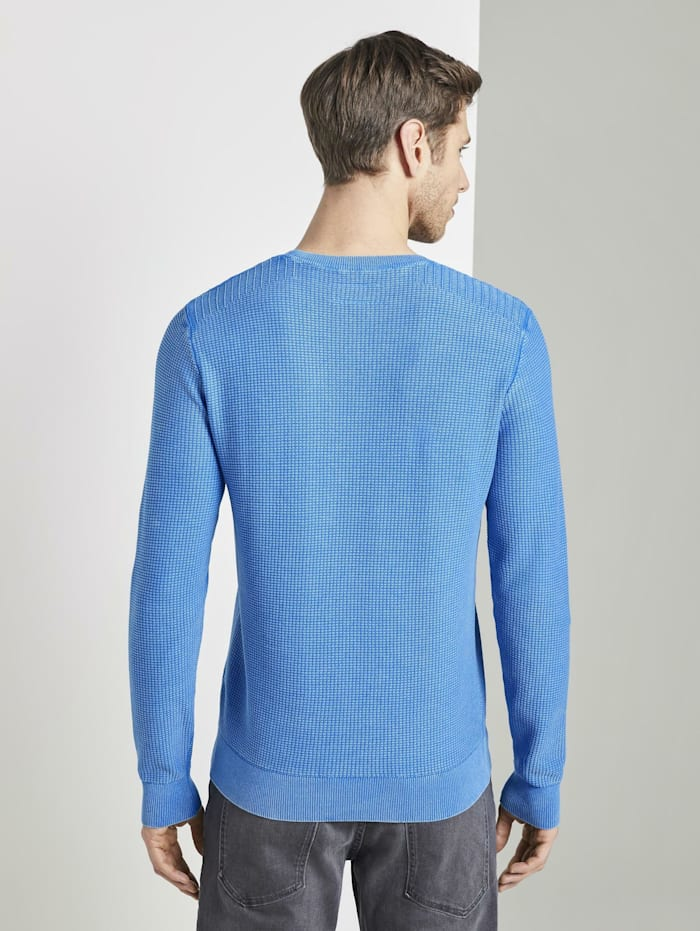 Strukturierter Sweater im Washed-Look
