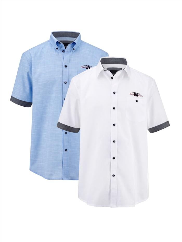 BABISTA Overhemden per 2 stuks, Blauw/Wit