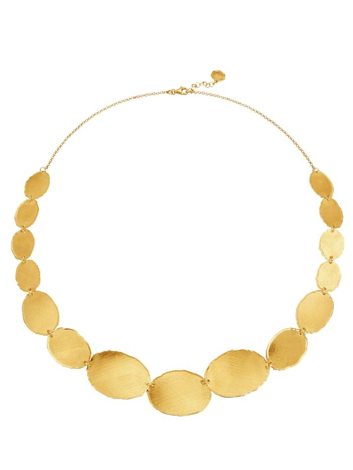 KLiNGEL Collier in Silber 925, vergoldet, Gelbgoldfarben