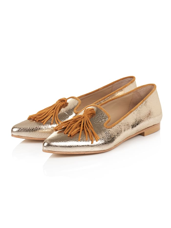 SIENNA Loafer, Goldfarben