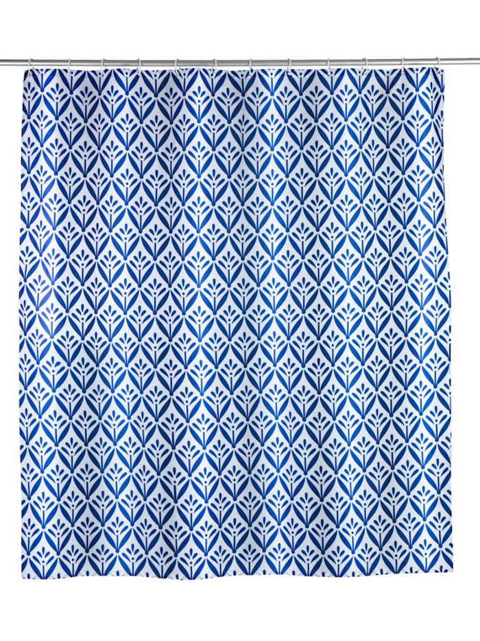 Wenko Duschvorhang Lorca, Textil (Polyester), 180 x 200 cm, waschbar, Mehrfarbig