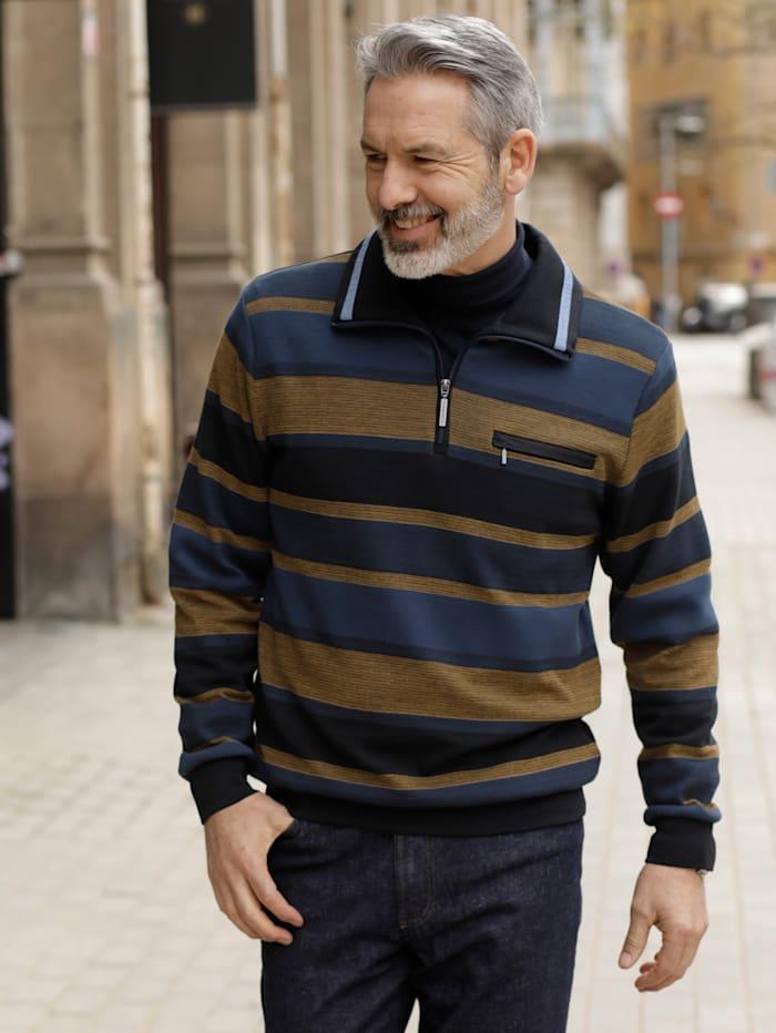 BABISTA Sweatshirt mit Brusttasche, Blau/Senfgelb