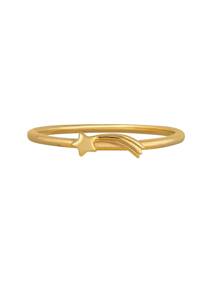 CAI Ring 925/- Sterling Silber ohne Stein Glänzend, gelb