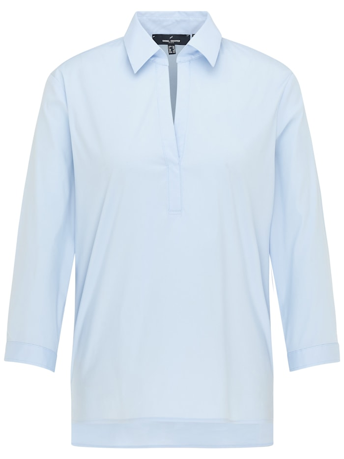 Daniel Hechter Moderne Bluse mit geradem Schnitt, light blue