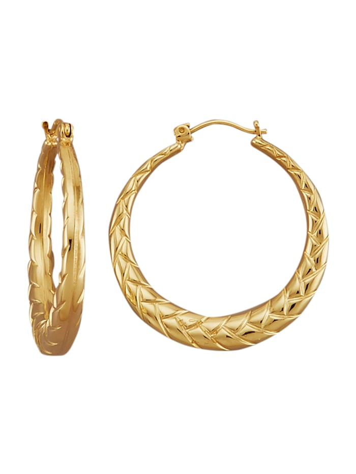 Amara Gold Creolen in Gelbgold 585, Gelbgoldfarben