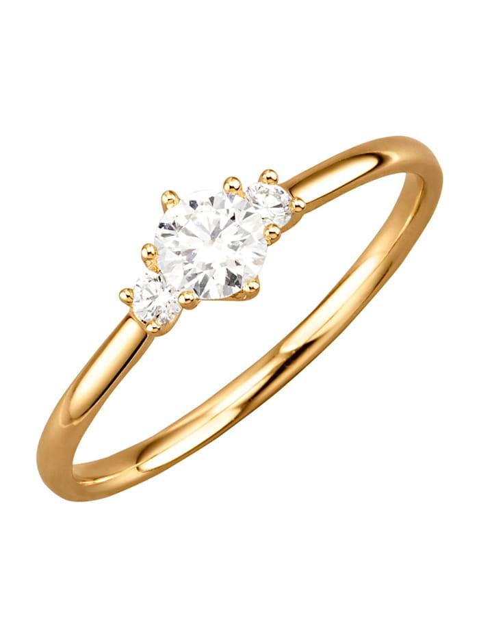 Diemer Diamant Naisten timanttisormus, Keltakullanvärinen