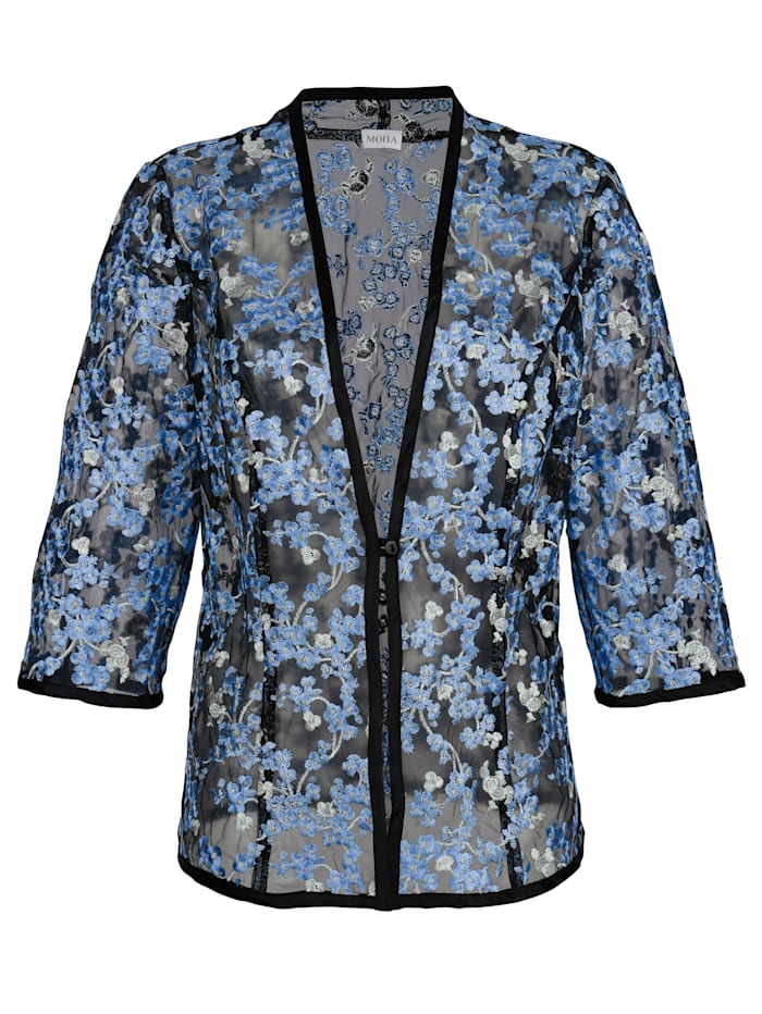 Blouse jacket with embroidery