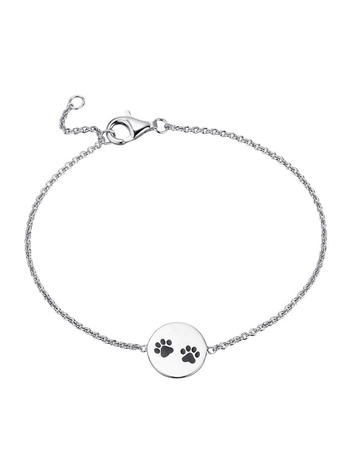 Pfoten-Armband, Silberfarben